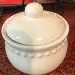 "Pottery Barn ""Emma"" Sugar Bowl"
